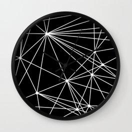 Black & White Geometric Web II Wall Clock