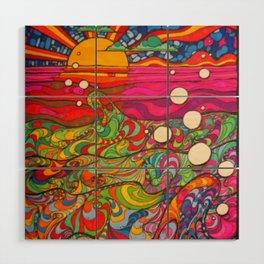 Psychedelic Art Wood Wall Art