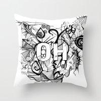 ohio Throw Pillows featuring Ohio. by Stefani Reeder