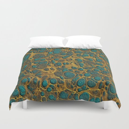 Golden Marble 02 Duvet Cover