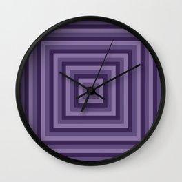 Purple Squares Wall Clock