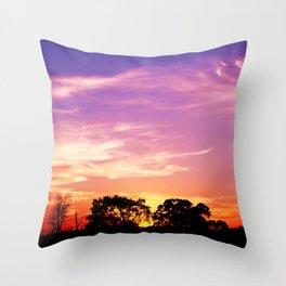 East Texas Sunset Throw Pillow