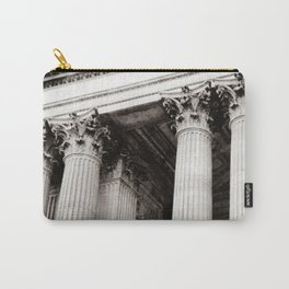 Corinthian Columns Black and White Photo by Larry Simpson Carry-All Pouch