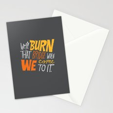 Burning Bridges v.2 Stationery Cards