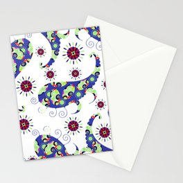 Blue Paisley #4 Stationery Cards