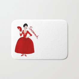 Sassenach in red dress (Outlander) Bath Mat