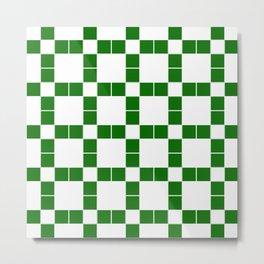 Team Colors 11 Green , white pattern Metal Print