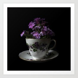 Botanical Tea Cup Art Print