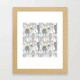 Bear family cartoon Framed Art Print
