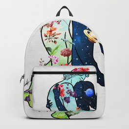 Nature hold universe. Backpack