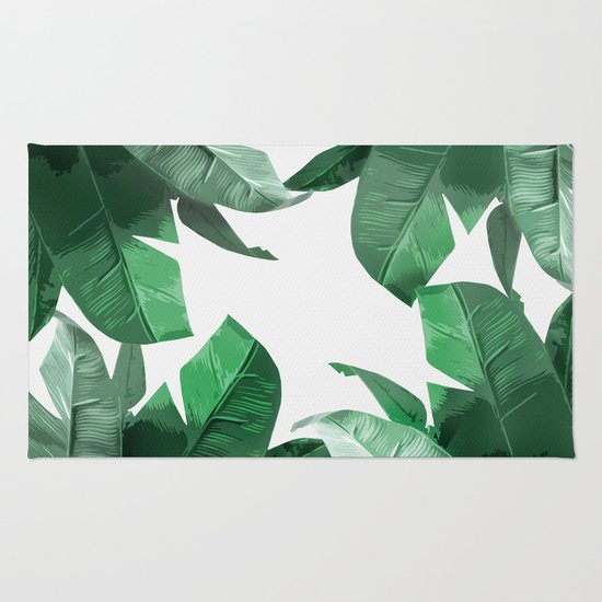 Tropical Palm Print Rug By Tamsin Lucie Society6