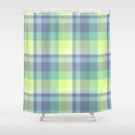 Summer Plaid 4 Shower Curtain
