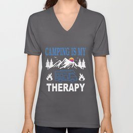 Camping Camper caravan motor home Gift Unisex V-Neck