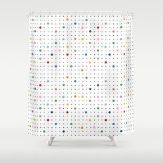 Pin Points Repeat Shower Curtain