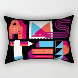 Postcards from Amsterdam / Typography Rectangular Pillow