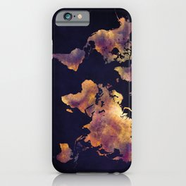 world map 64 iPhone Case