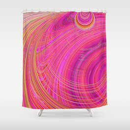 Re-Created  Hurricane 6 by Robert S. Lee Shower Curtain