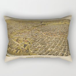 Fort Worth, Texas 1891 Rectangular Pillow