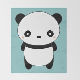 Kawaii Cute Panda Throw Blanket