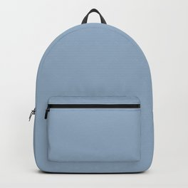 Solid Blue Gray Color Backpack