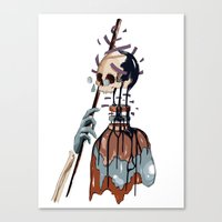 native Canvas Prints featuring Native  by PAFF
