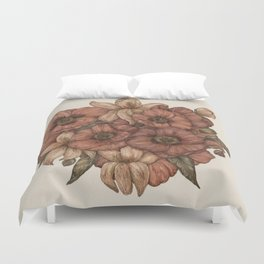 Poppies and Lilies Duvet Cover
