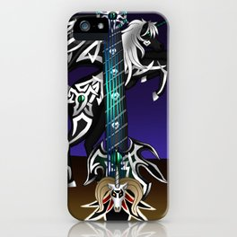 Fusion Keyblade Guitar #186 - Unicornis' Keyblade & Master Xehanort's Keyblade iPhone Case