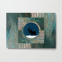 Moose Dreamtime Metal Print