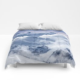 Snowy Mountains and Glaciers Comforters