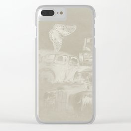 cars in secret forest Clear iPhone Case