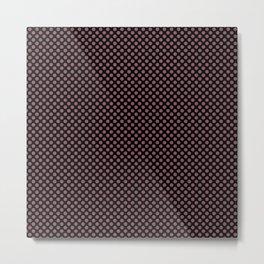 Black and Renaissance Rose Polka Dots Metal Print