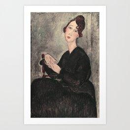 Portrait of Dedie Hayde by Amedeo Modigliani Art Print