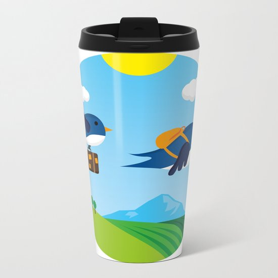 Swallows go to Africa Metal Travel Mug