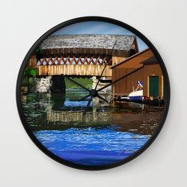 Covered Bridge #65 Wall Clock