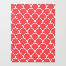 Salmon Pink Scallops Canvas Print