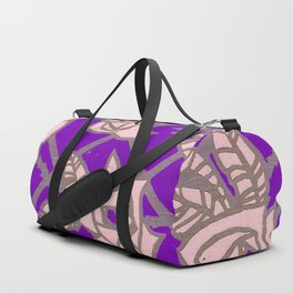 Purple Rose Trellis Duffle Bag