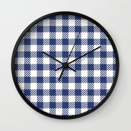 Blue Vichy Wall Clock