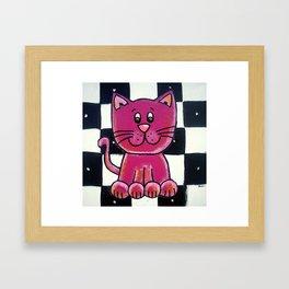BW VIOLET cat Framed Art Print