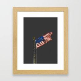 American Flag Framed Art Print