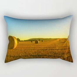 Early morning on the stubble Rectangular Pillow