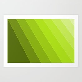 Green Gradient to Light Art Print
