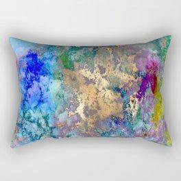 Galaxy, abstract, gold accent Rectangular Pillow