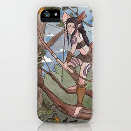 In The Treetops iPhone Case