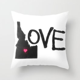 Love, Idaho. Throw Pillow