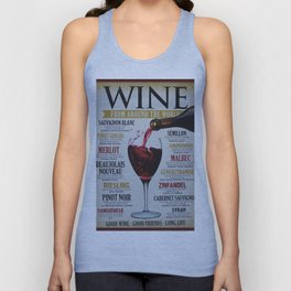 Vintage Wines from around the world Wine Advertisement Wall Art Unisex Tank Top