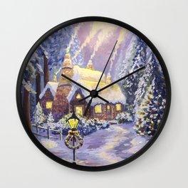 Warm Christmas Wall Clock