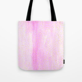 pink pastel with golden dots Tote Bag