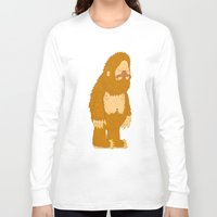 bigfoot Long Sleeve T-shirts featuring bigfoot by gal shkedi