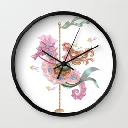 Mermaid Carousel - The Seahorse Wall Clock