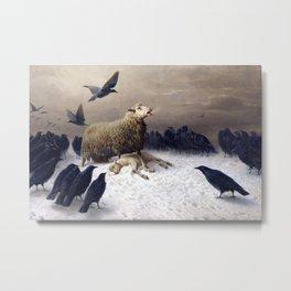 Anguish by August Friedrich Albrecht Schenck Metal Print
